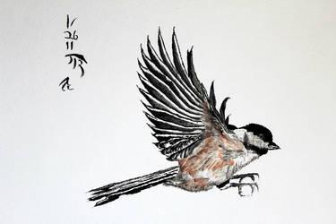 Black Capped Chickadee by Boio8010