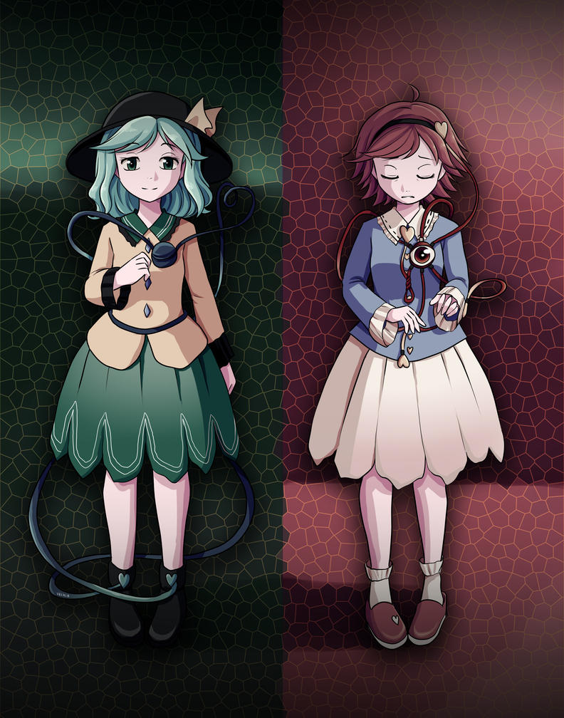 Touhou - Opened Eye of Fear and Closed Eye of Love by Velkia