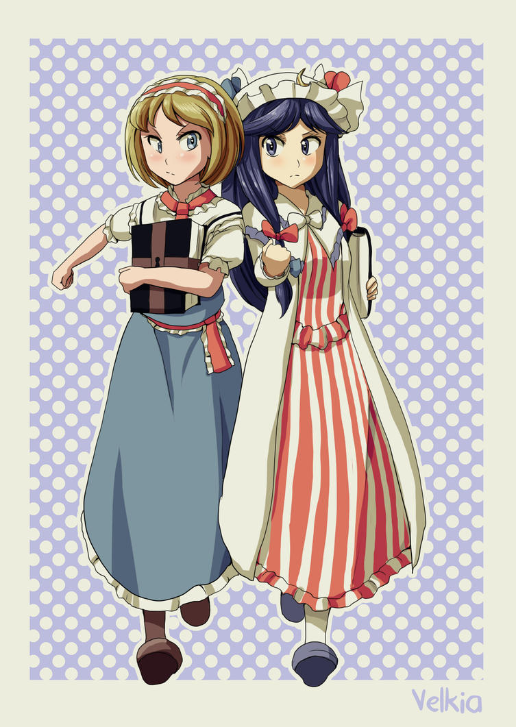 Touhou - Alice and Patchouli by Velkia