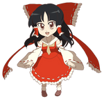 Touhou - Chibi Reimu by Velkia