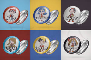 Pokemon - Cartoonish badges