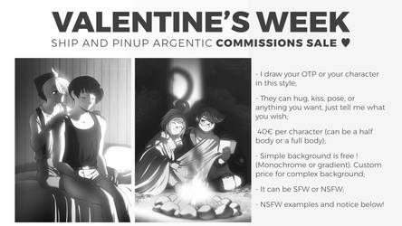 Valentine's Week Ship and Pinup commissions sale