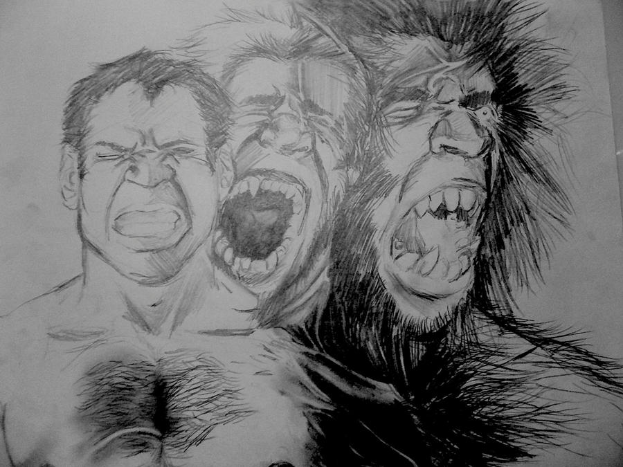 Werewolf transformation art - photo#10