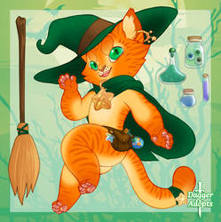 Cat Witch Adopt - SOLD by Daggerstale-Adopts