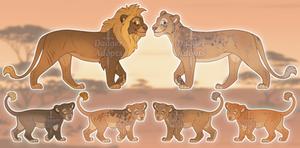Lion Family Adoptables - 1/6 OPEN