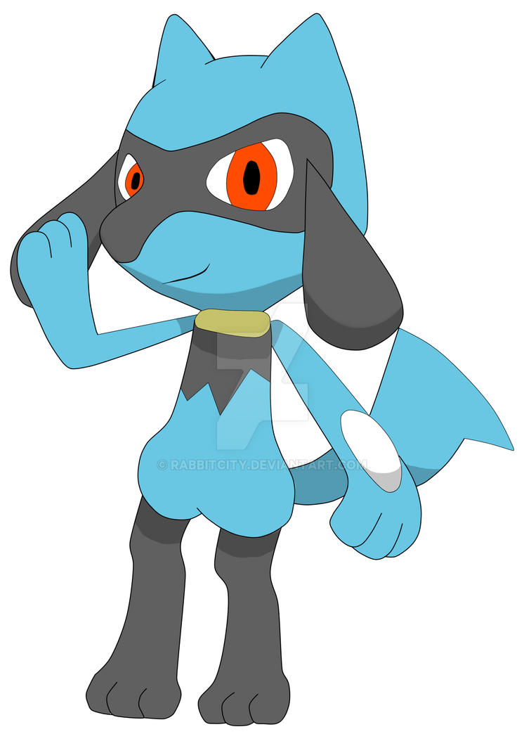 Riolu Hi by RabbitCity