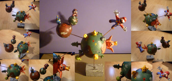 Super Mario Galaxy Diorama by Jelle-C
