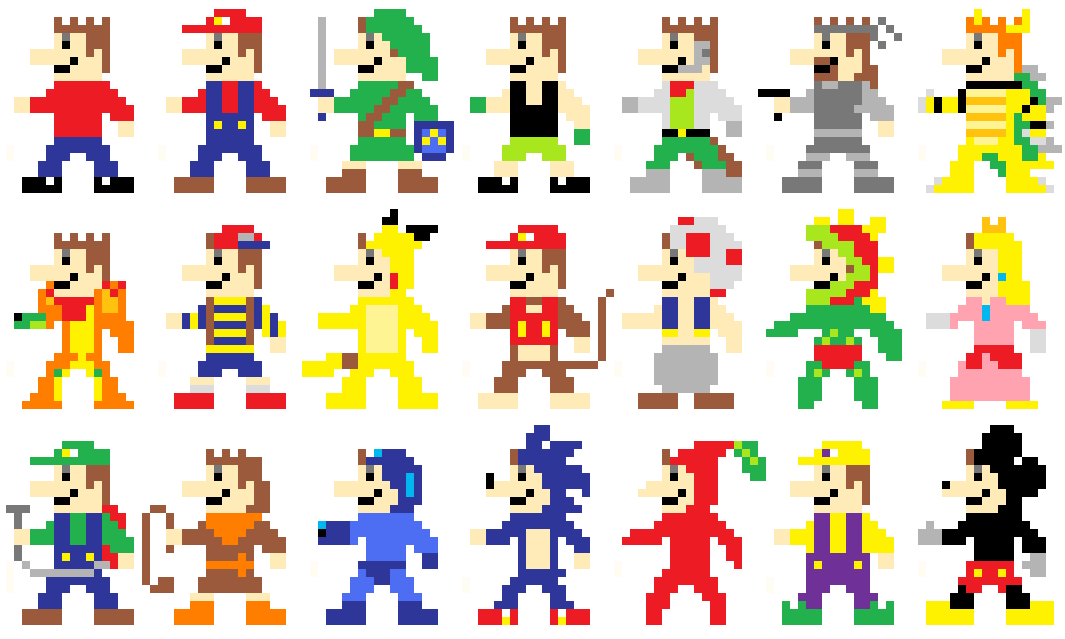 Me As 8-Bit Game Characters 1 by Jelle-C on DeviantArt