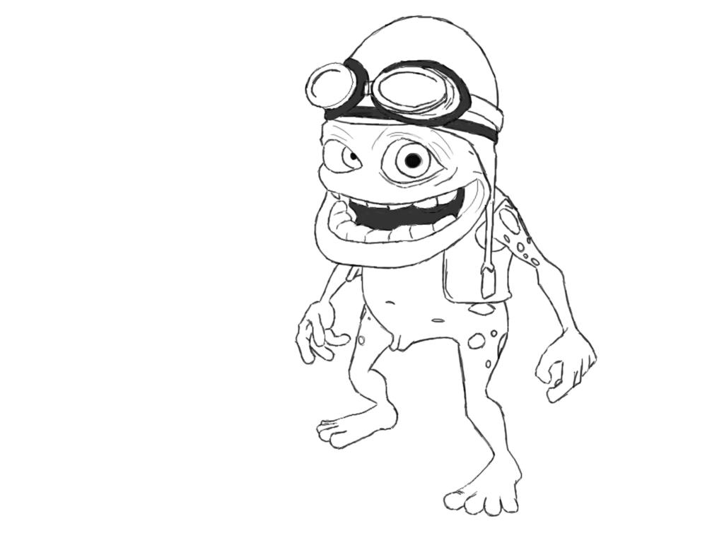 Crazy Frog Coloring Pages Photo Album Sabadaphnecottage