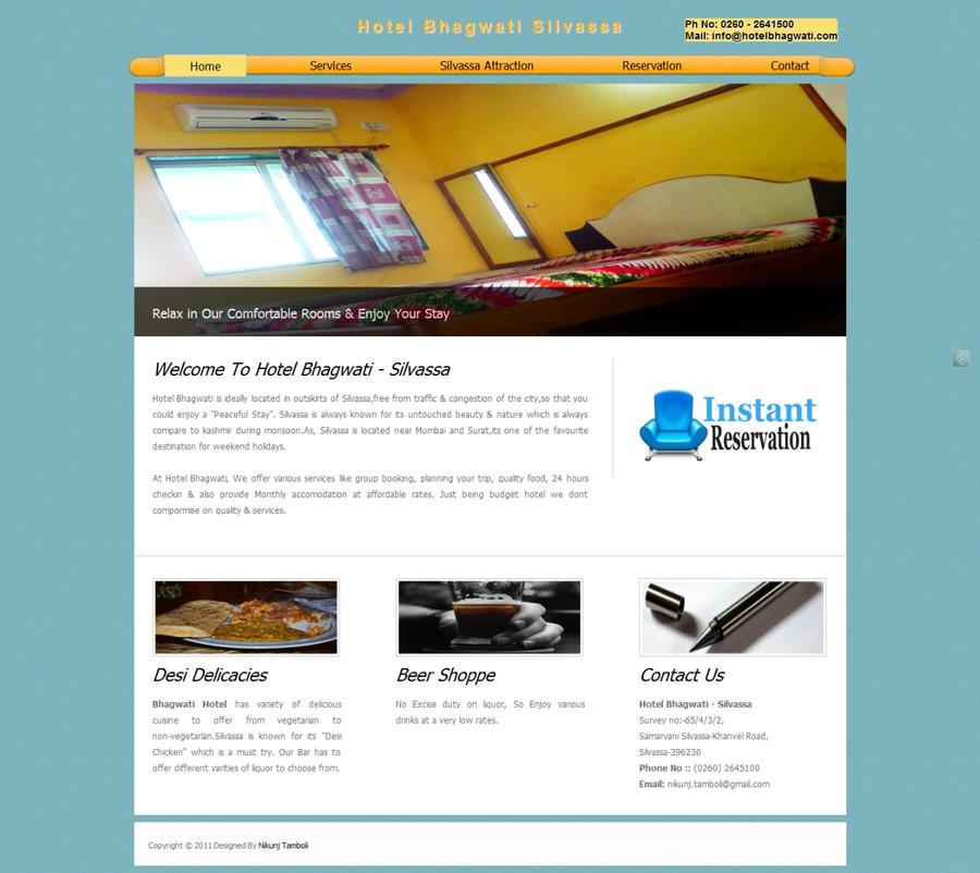 Website design hotel website by nikunjt on deviantart for Design hotel website