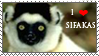 Sifaka_stamp by Aquene-lupetta