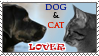 Dog and cat lover stamp by Aquene-lupetta