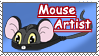 Mouse artist _Stamp by Aquene-lupetta