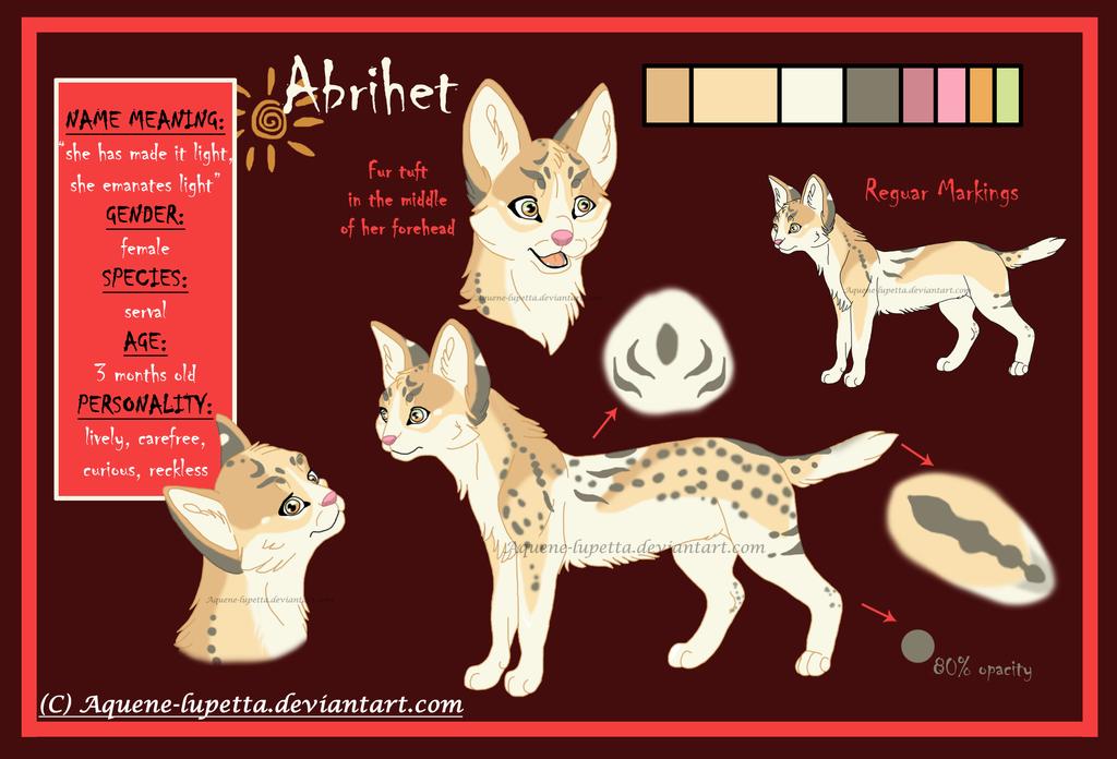 Abrihet_Character-sheet by Aquene-lupetta