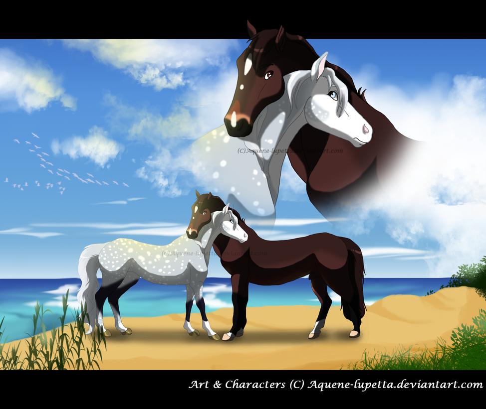 Love on the beach by Aquene-lupetta