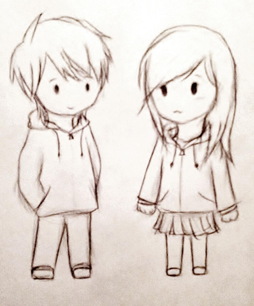 The gallery for --> Chibi Anime Couples Sketch