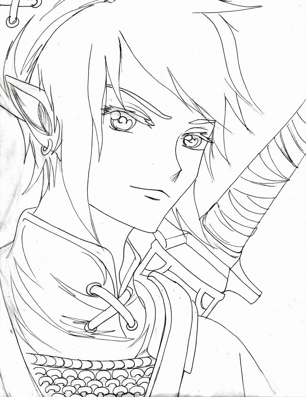 Coloring Page Princess Zelda