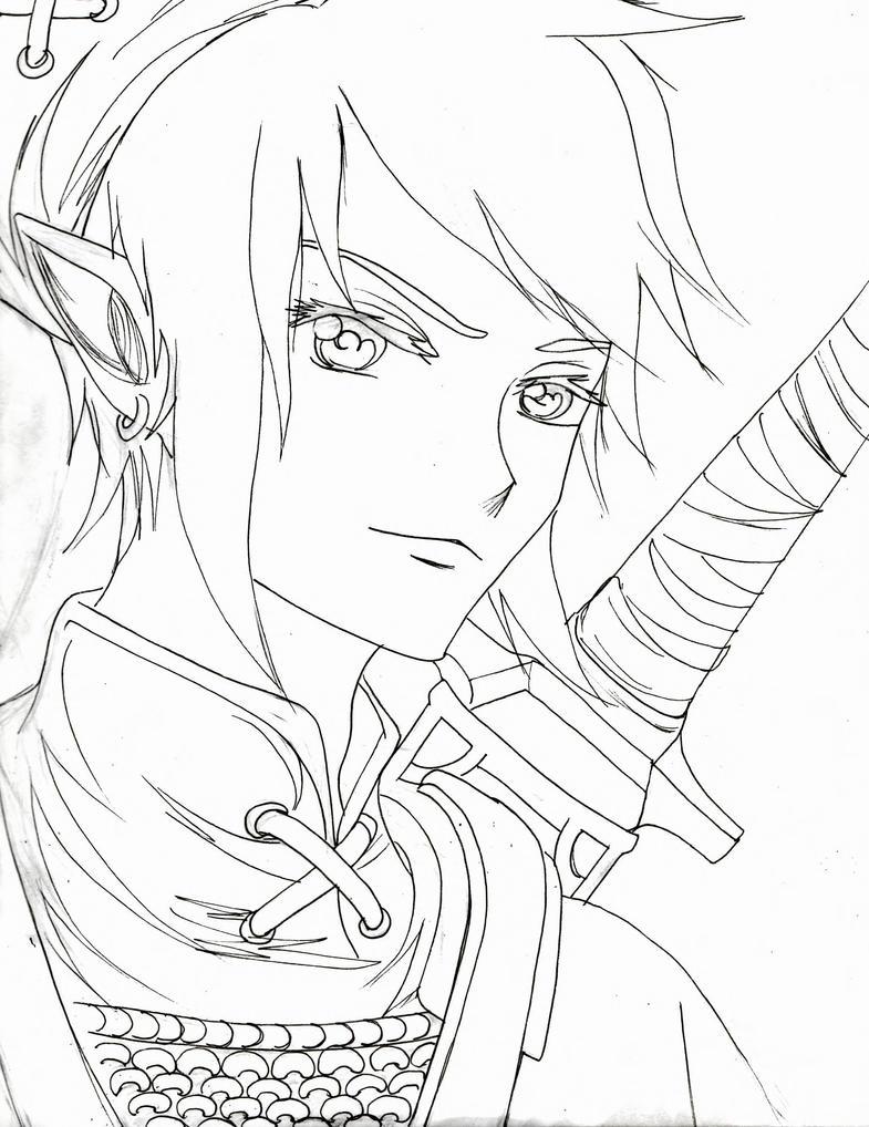 Line Art Zelda : Link lineart by mumei on deviantart