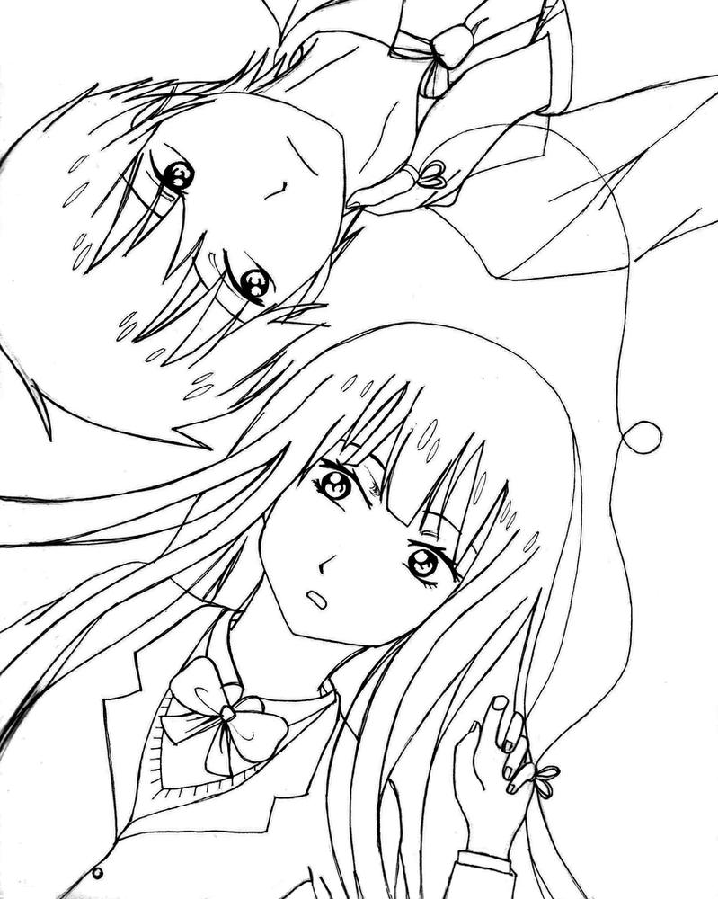 Q Line Art : Kimi ni todoke line art by mumei on deviantart