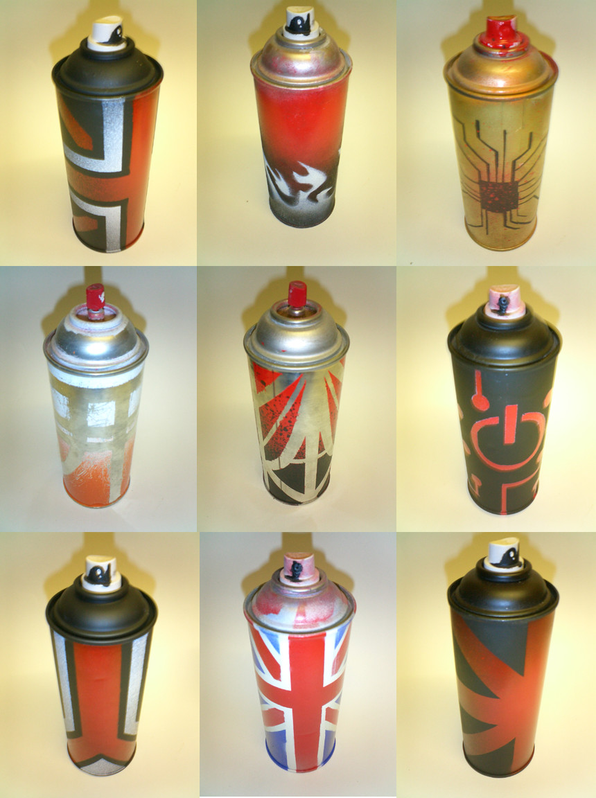 Graffiti Spray Cans By Deathbyarchitecture On Deviantart
