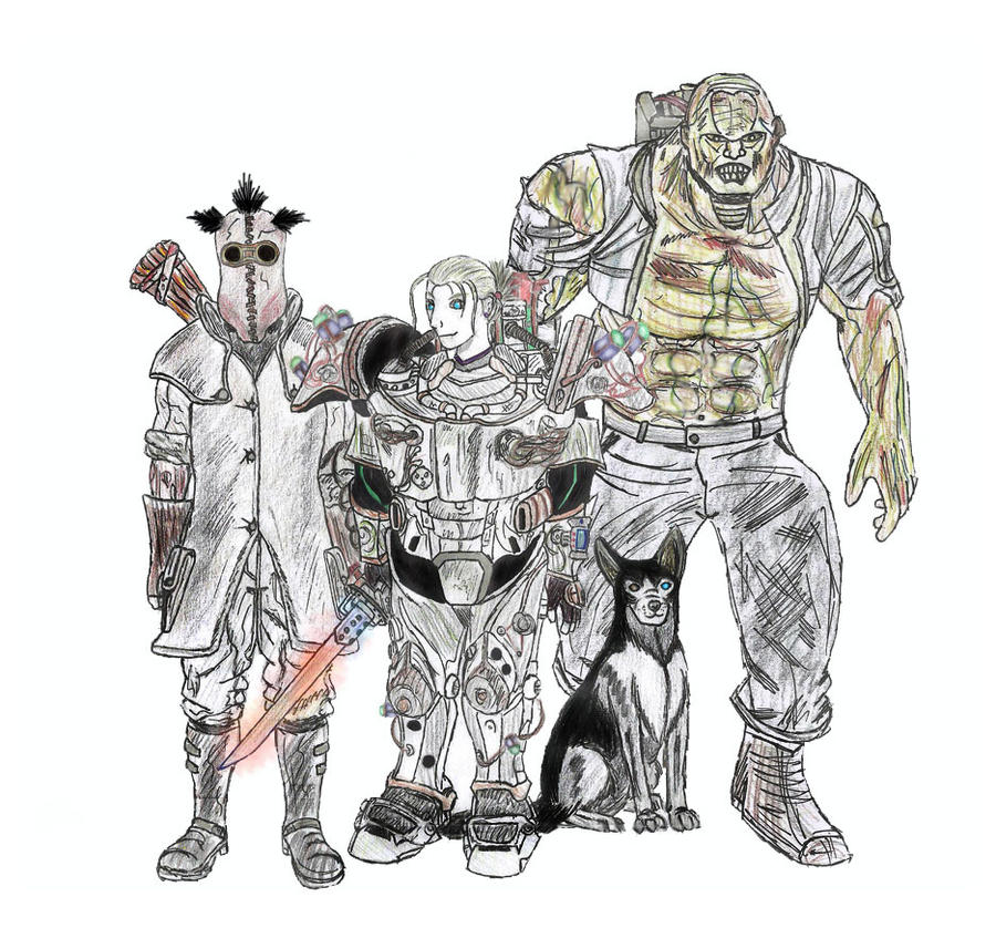 Fallout 3 Fan Art: Eleanor's Crew By Rorschach94 On DeviantArt