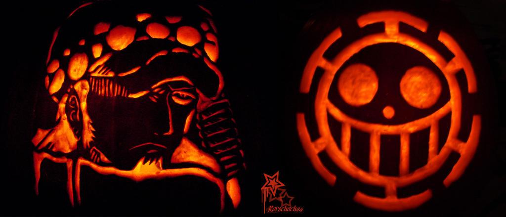 Trafalgar Law Pumpkin Set by Rorschach94