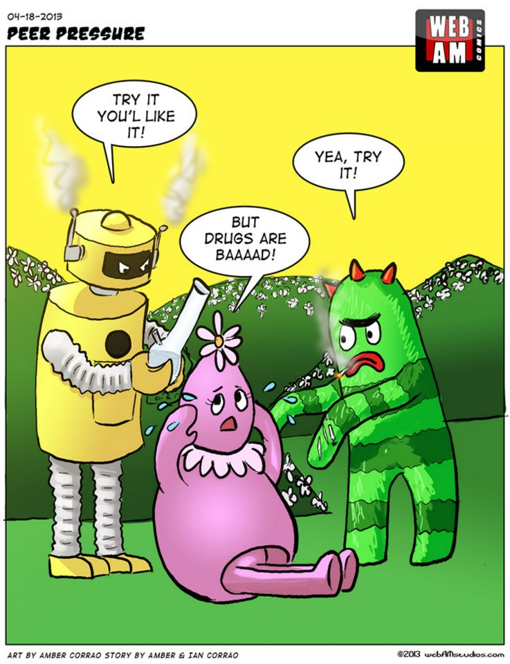 Drug free comic strip