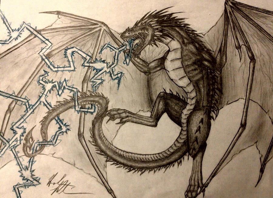 Lightning Dragon by HannahRobinson on deviantART