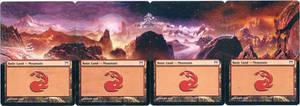 MTG Altered Card_Mountain_Kamikawa Panorama