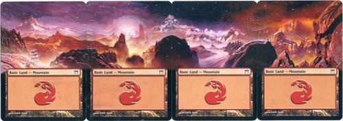 MTG Altered Card_Mountain_Kamikawa Panorama by GhostArm1911
