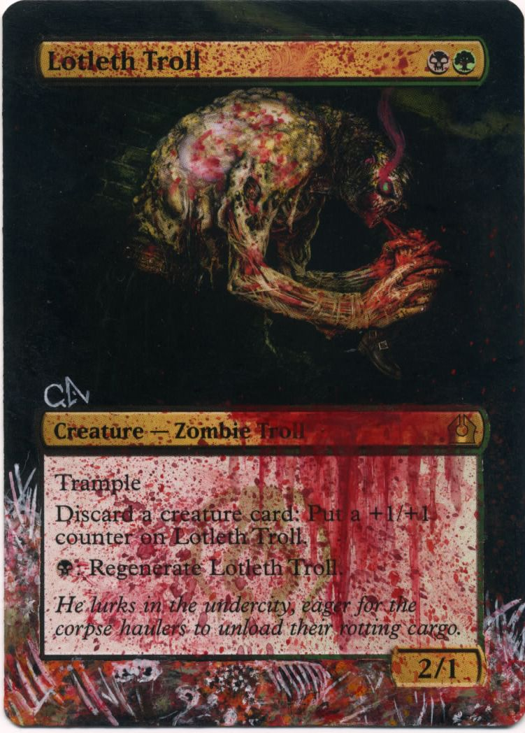 Mtg Altered Card Lotleth Troll By Ghostarm1911 On Deviantart