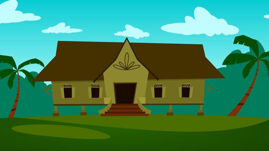 Big Wooden House By Dennyazriman On DeviantArt - Big cartoon house