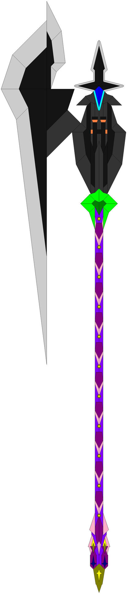 The Oblivion Huricane Giant Axe, how the four look by Chaos-Infection