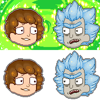 F2U - Rick and Morty icons by SqueakFace