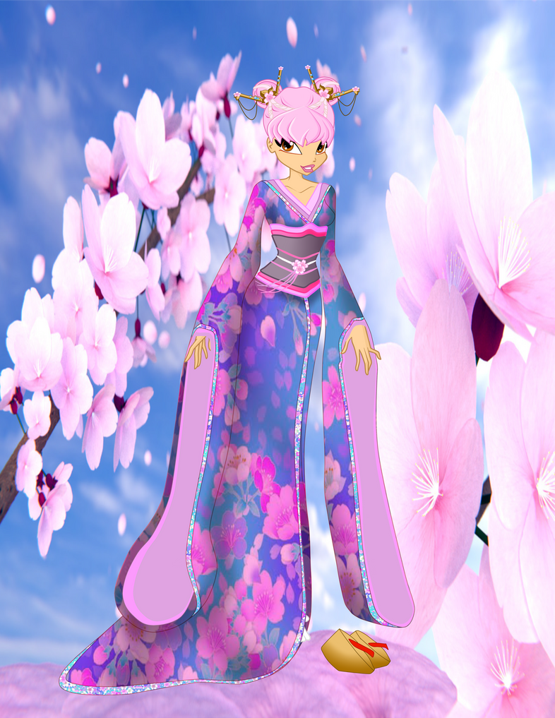 OC Eustacia - Asian Fashion commisson with bg by queenvampire22