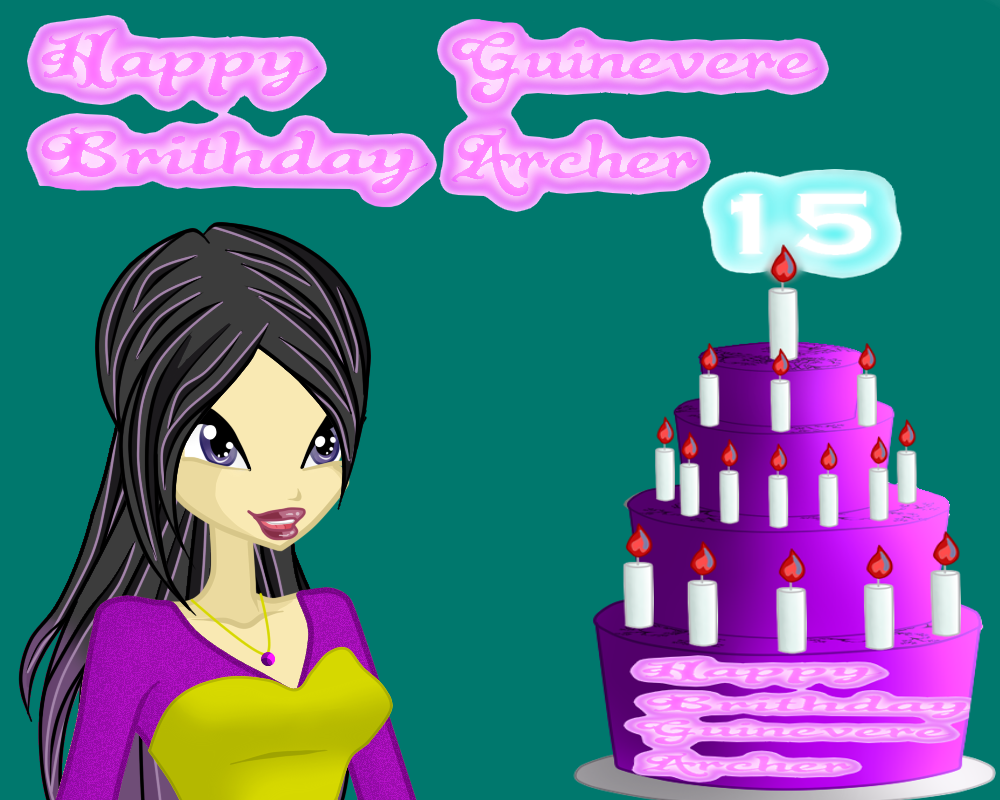 Guinevere archer Birthday Cake by queenvampire22