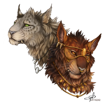 Mottled and Golden Queens by Maple-Heart