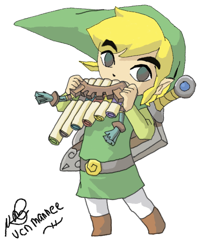 Link Spirit Tracks drawing by Vanessa28