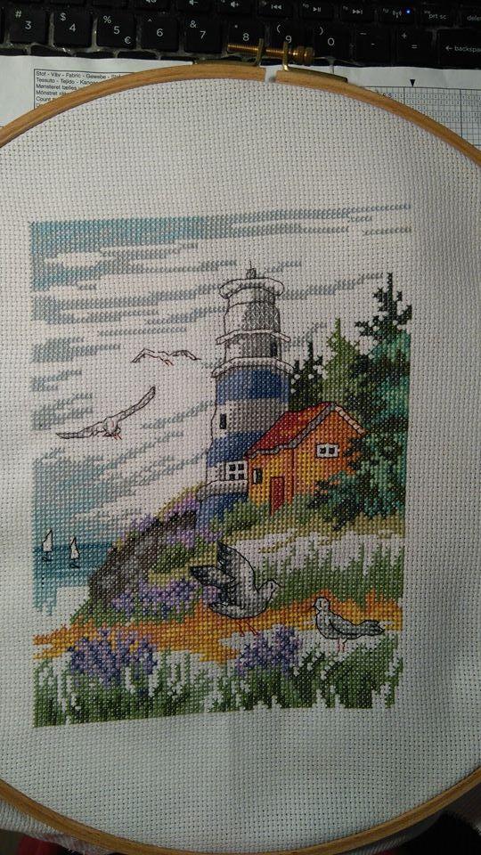 Lighthouse Cross stitch by Vanessa28