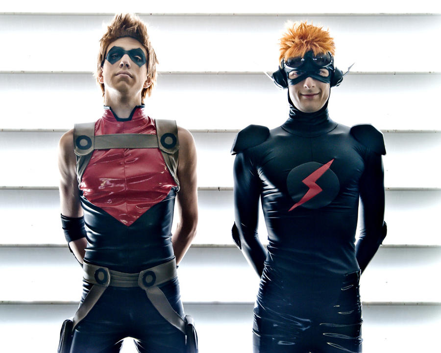 Nightwing Costume For Kids Consequences- Kid Flash and