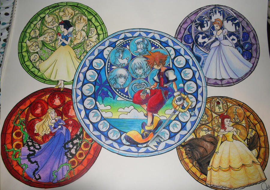 Kingdom Hearts Stained Glass by KHArt08 on DeviantArt