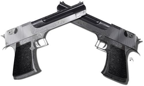 Pistols Crossed by NimainaSekan