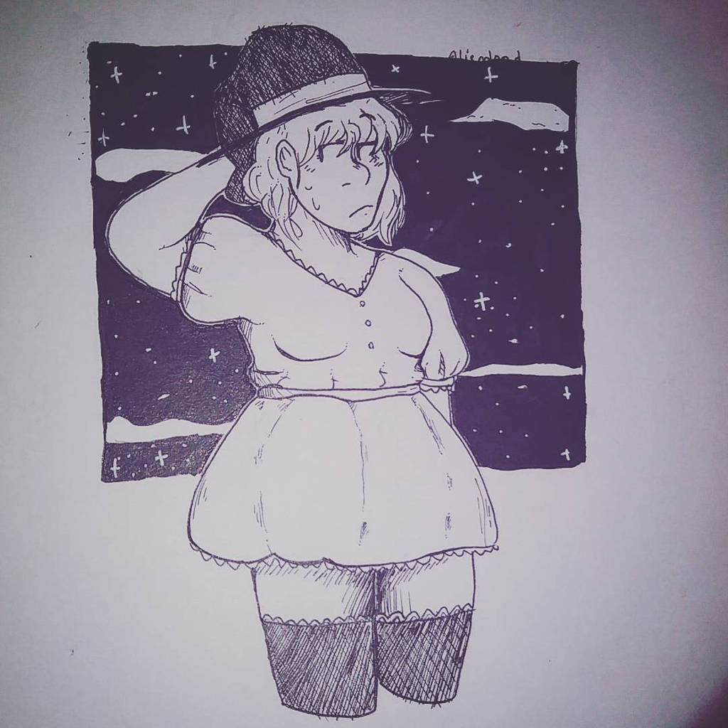 Witch - INKTOBER by aliend00d