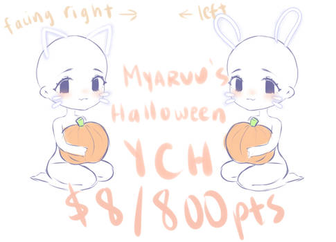 $8/800pts Halloween YCH [OPEN]