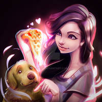 Pizza and Dog Lover