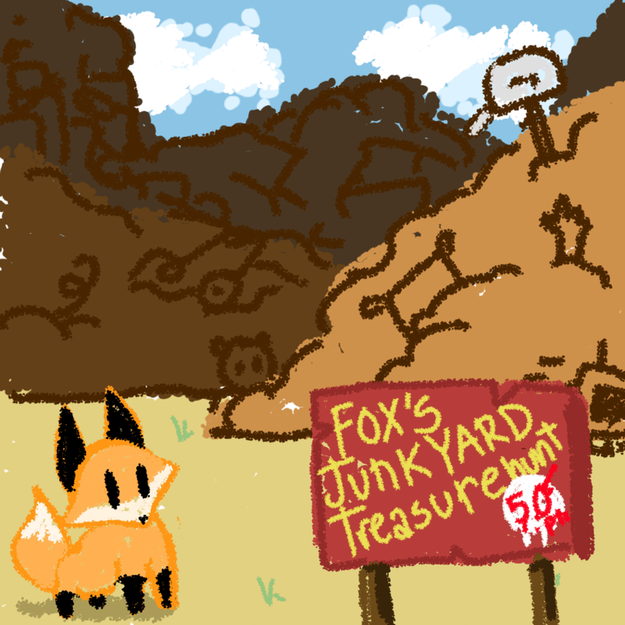 fox u0027s junk yard treasure hunt closed by aven12 on deviantart