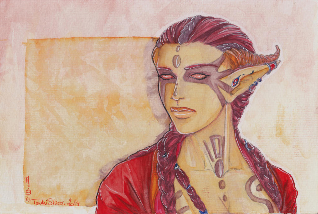 Red Demon Watercolor - For Sale by Melckia