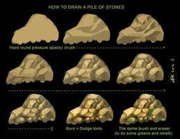 Stones - TUTORIAL by XanthFilatine