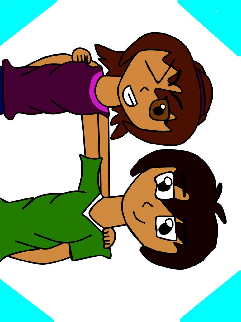 mi hermano y yo XD by mirilizmaciliza