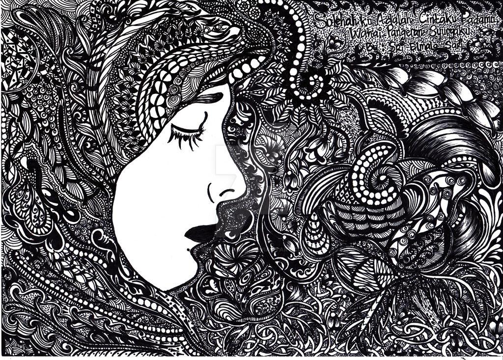Zentangle Art Of Muslimah By Srielmalasari